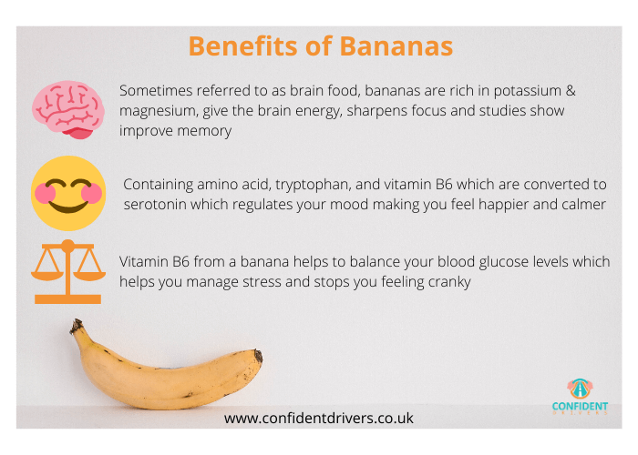 eat a banana to calm nerves